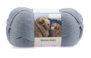 Merino Baby Graublau